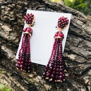 Kendra Scott Maroon Jade Cecily Earrings
